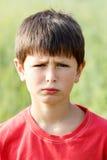 Sad portrait of boy Royalty Free Stock Image