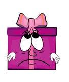 Sad present box cartoon Stock Photos