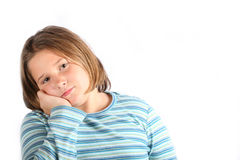 Sad preteen Royalty Free Stock Photos