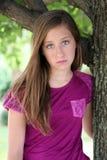 Sad preteen girl Stock Photography
