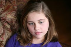 Sad preteen girl Royalty Free Stock Images