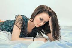 Sad pretty woman Stock Photography