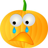 Sad pumpkin Stock Photos