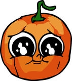 Sad Pumpkin Stock Photography
