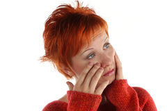 Free Sad Red Haired Woman Stock Photos - 5308313