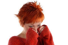 Free Sad Red Haired Woman Royalty Free Stock Images - 5387709