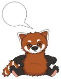 Sad red panda and clean footnote Royalty Free Stock Images