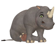 Sad Rhinoceros Stock Photography