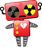 Sad Robot With Broken Heart Stock Images