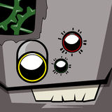 Sad Robot Face Avatar Royalty Free Stock Photos