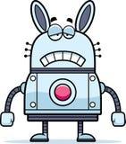 Sad Robot Rabbit Royalty Free Stock Photo