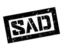 Sad rubber stamp Royalty Free Stock Images