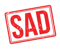 Sad rubber stamp Royalty Free Stock Photography