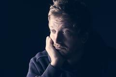 Sad 30s Male. Shot of a Sad 30s Male Stock Photo