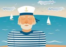 Sad sailor royalty free stock image