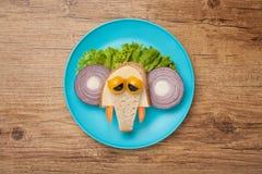 Sad sandwich elephant Stock Photo