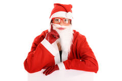 Sad Santa Stock Photo