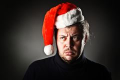 Sad Santa. Stock Image