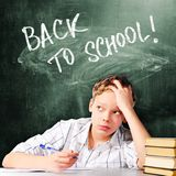 Sad school boy Royalty Free Stock Photos