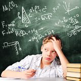 Sad school boy Royalty Free Stock Image