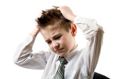 Sad schoolboy Stock Photography