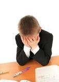 Sad schoolboy Stock Photos