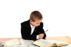 Sad schoolboy Stock Images