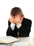 Sad Schoolboy Stock Photo