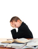 Sad Schoolboy Royalty Free Stock Images