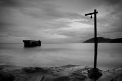 The sad sea. I took this  photo in Sanya city, Hainan island, the north of China Royalty Free Stock Image