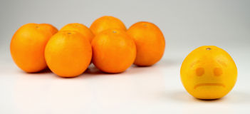 Sad segregated yellowish orange Stock Photos