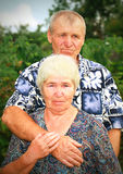 Sad senior couple Stock Photo