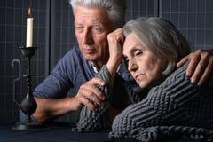 Sad  Senior couple portrait Royalty Free Stock Photos