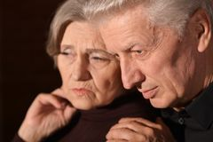 Sad Senior couple Royalty Free Stock Image