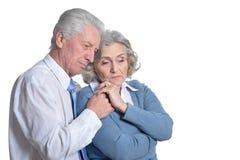 Sad Senior couple royalty free stock photos