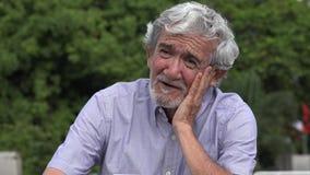 Sad Senior Elderly Hispanic Man Talking