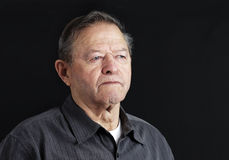 Sad senior man. Sad, depressed or deep in thoughts senior old man Stock Image
