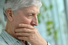 Sad senior man Royalty Free Stock Photography