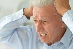 Sad senior man Stock Images