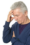 Sad senior man Stock Photos