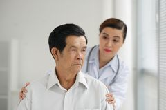 Sad senior patient Royalty Free Stock Photography