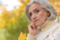 Sad senior woman Royalty Free Stock Photo