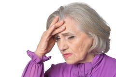 Sad senior woman Royalty Free Stock Photography