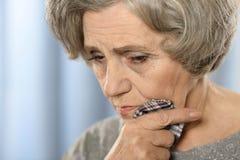 Sad senior woman Royalty Free Stock Image