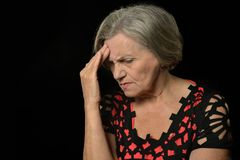 Sad senior woman Royalty Free Stock Photo