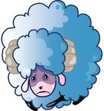 Sad Sheep Royalty Free Stock Images