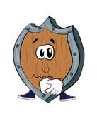 Sad Shield cartoon Royalty Free Stock Images