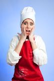 Sad shocked chef Royalty Free Stock Photo