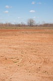 Sad sight of a completely dry reservoir lake Stock Photos