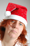 Sad single Christmas woman Stock Image